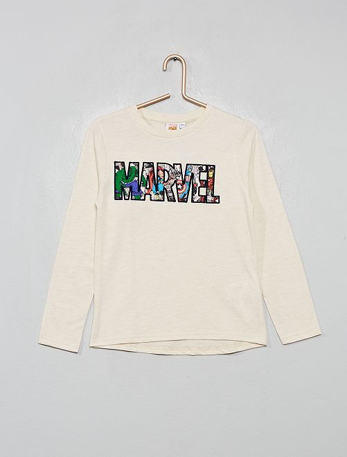 T-shirt 'Marvel'                                         beige