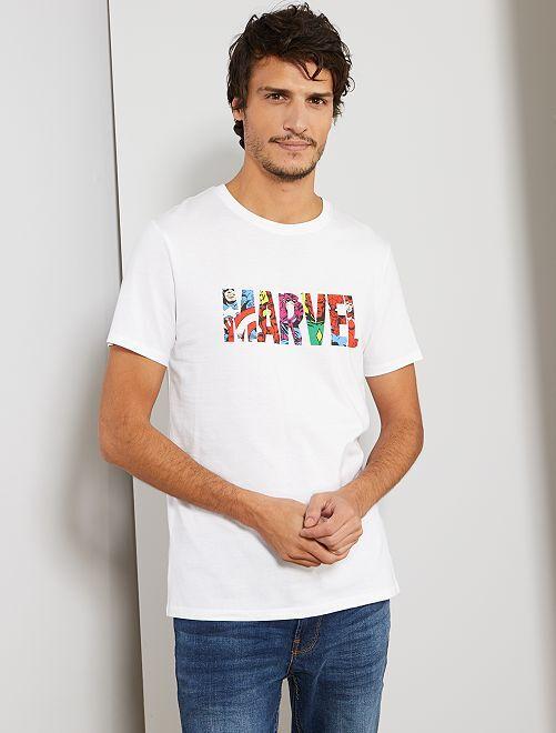 T-shirt 'Marvel'                                         blanc
