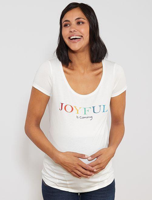 T-shirt maternité 'éco-conception'                                                                                         écru/joyful Vêtement de grossesse