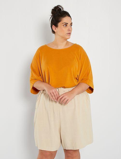 T-shirt matière fluide                     jaune