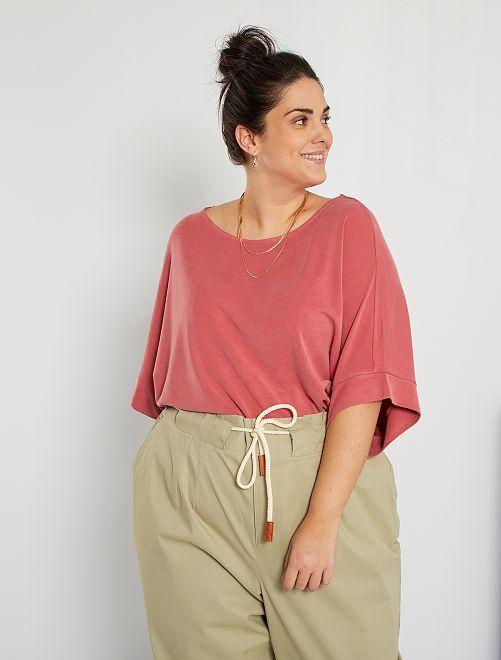 T-shirt matière fluide                                         rose