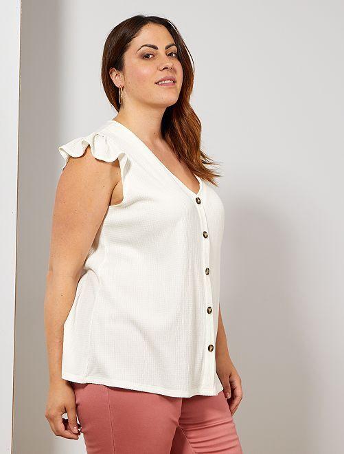 T-shirt matière texturée                                         blanc
