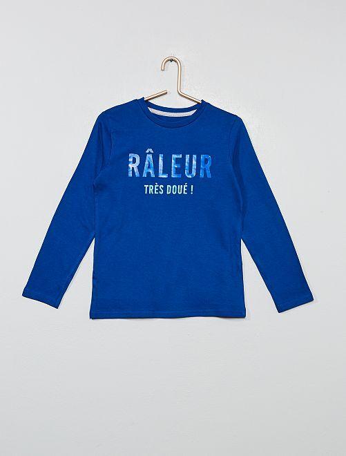 T-shirt message 'éco-conception'                                                                                                     bleu/raleur Garçon