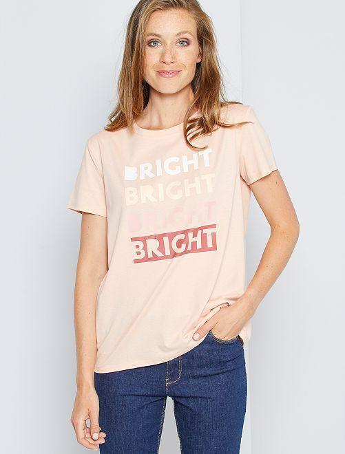 T-shirt message éco-conçu                                                                                                                                                                                                                                                                                                                                                                                                                 rose