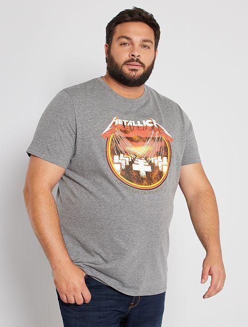 T-shirt 'Metallica'                             gris