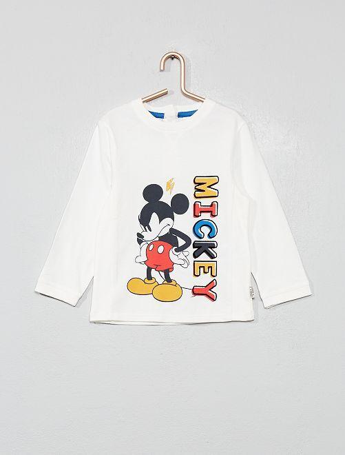 T-shirt 'Mickey'                             blanc Bébé garçon