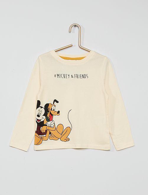 T-shirt 'Mickey'                                         blanc