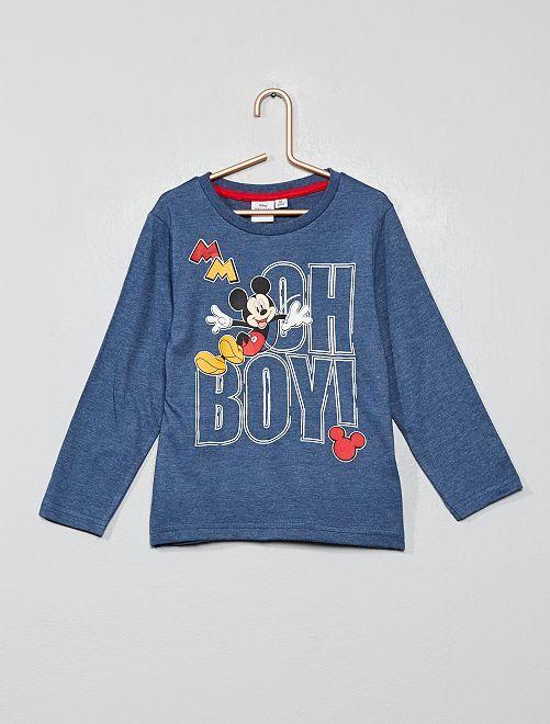 T-shirt 'Mickey'                                                     bleu gris
