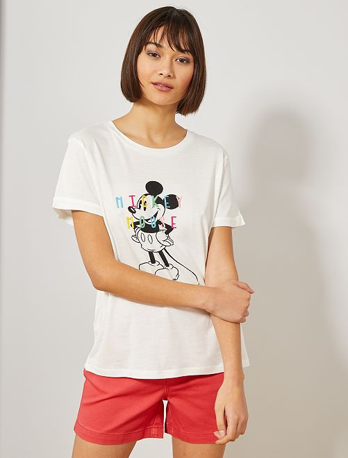 T-shirt 'Mickey' de 'Disney'                                                                                                                             BLANC Femme