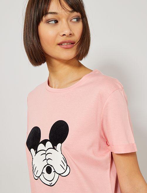 T-shirt 'Mickey' de 'Disney'                                                                                                                             rose Femme