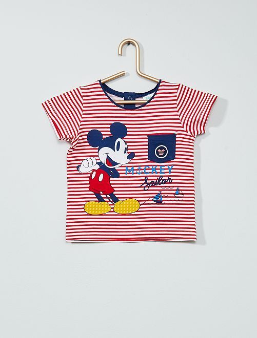 T-shirt 'Mickey' de 'Disney'                                         rouge