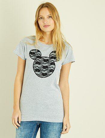 T-shirt 'Mickey' en dentelle - Kiabi