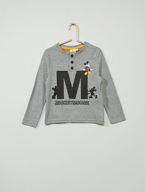 T-shirt 'Mickey'                                         gris