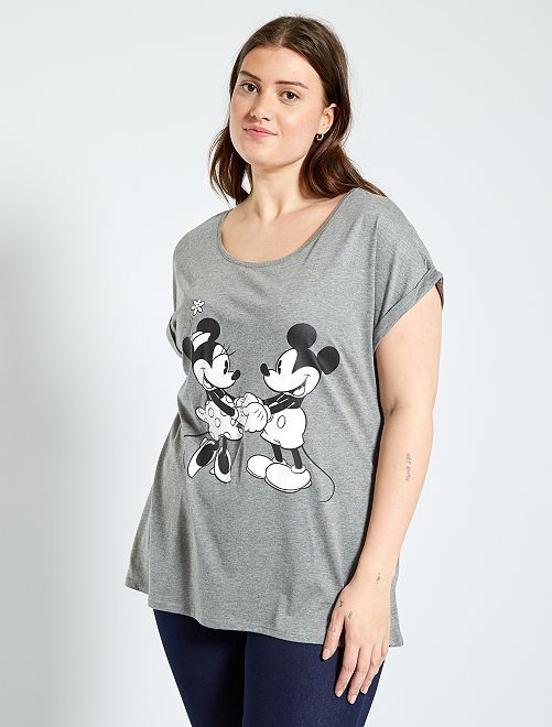 T-shirt 'Mickey'                                                                                                                                                                                         gris