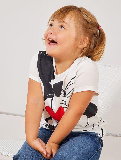 T-shirt 'Mickey & Minnie'                             blanc Fille
