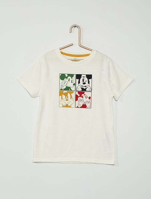 T-shirt 'Mickey Mouse' de 'Disney'                                                                                         blanc