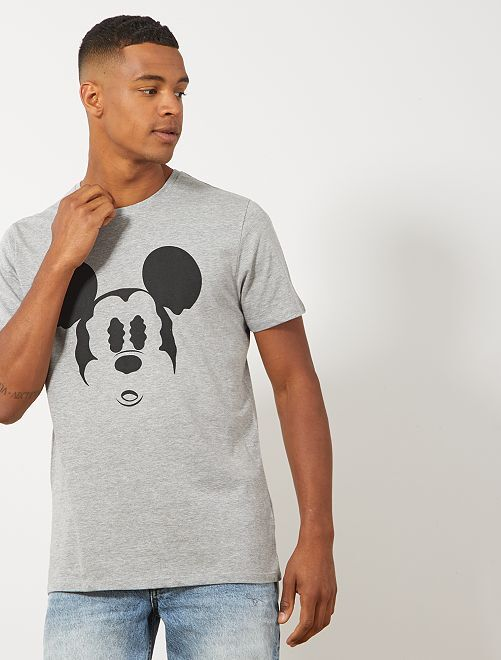 T-shirt 'Mickey Mouse'                             gris chiné Homme