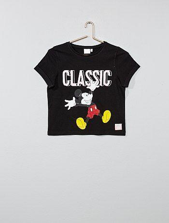a570c9b5c56ee Fille 10-18 ans - T-shirt  Mickey  - Kiabi