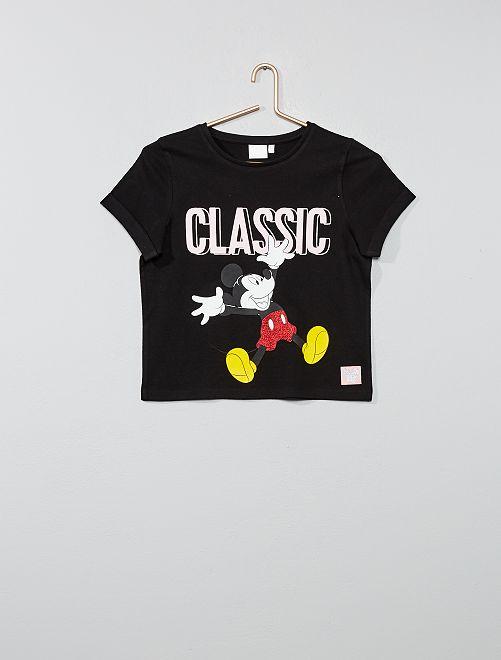 T-shirt 'Mickey'                             noir Fille adolescente