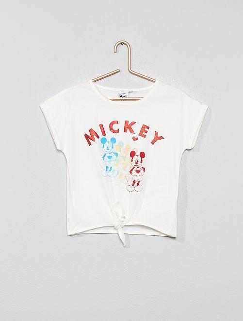 T-shirt 'Mickey' noué                                         blanc