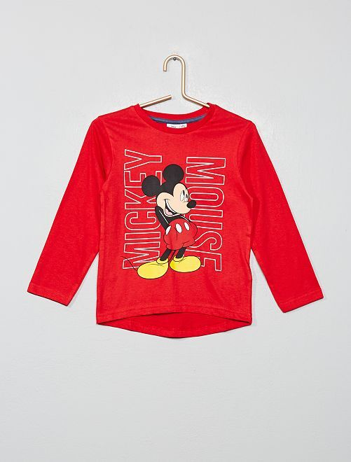 T-shirt 'Mickey'                                                     rouge