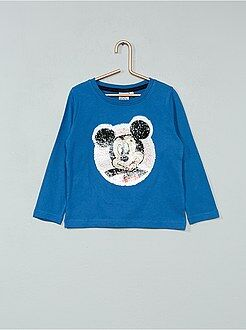 T-shirt 'Mickey' sequins réversibles - Kiabi