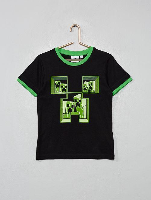 T-shirt 'Minecraft'                             noir