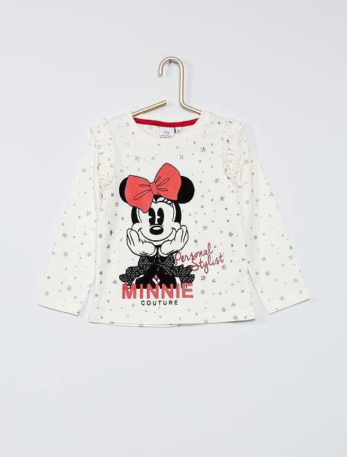T-shirt 'Minnie' à volants                                         blanc
