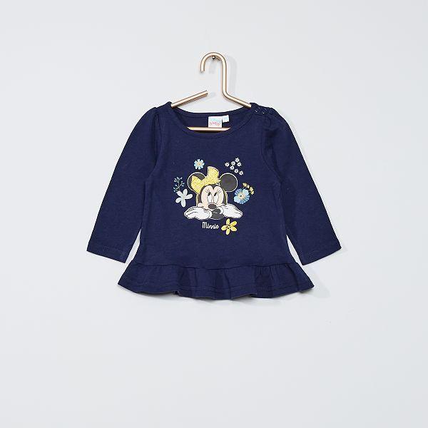 Veste en jean imprimée 'Minnie' Fille bleu Kiabi 19,00€