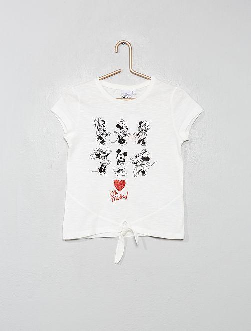 T-shirt 'Minnie' avec nœud                                                     blanc