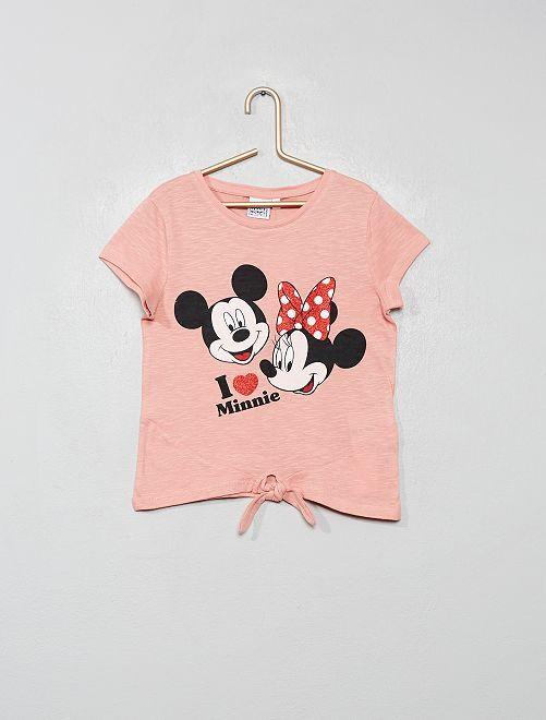 T-shirt 'Minnie' avec nœud                                         rose