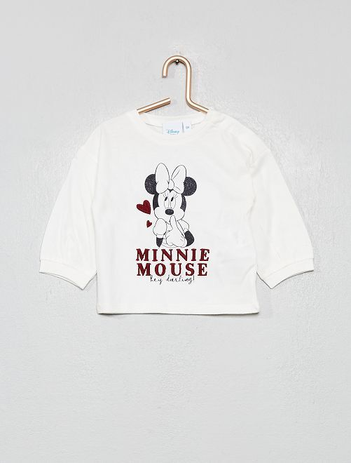 T-shirt 'Minnie'                             blanc