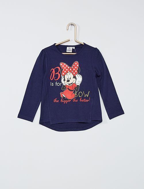 T-shirt 'Minnie'                                                     bleu marine