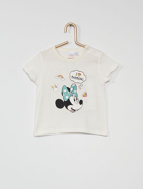 T-shirt 'Minnie' en coton                             écru