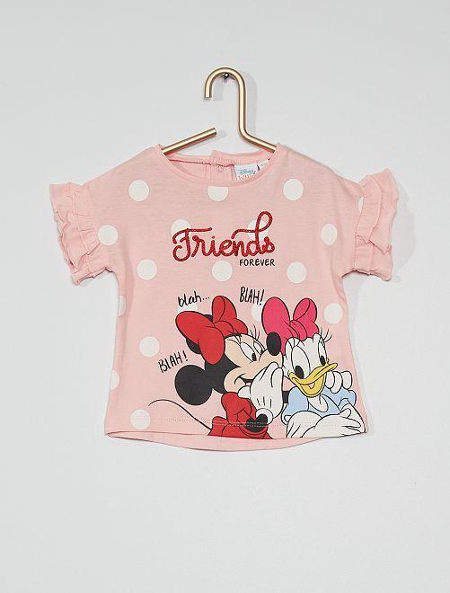T-shirt 'Minnie et Daisy'                                         rose