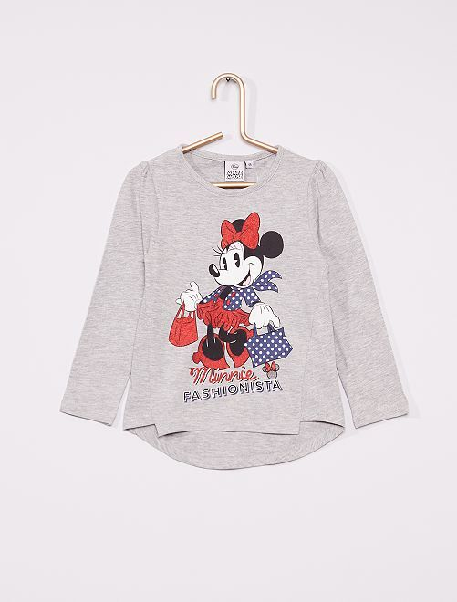 T-shirt 'Minnie'                                                     gris