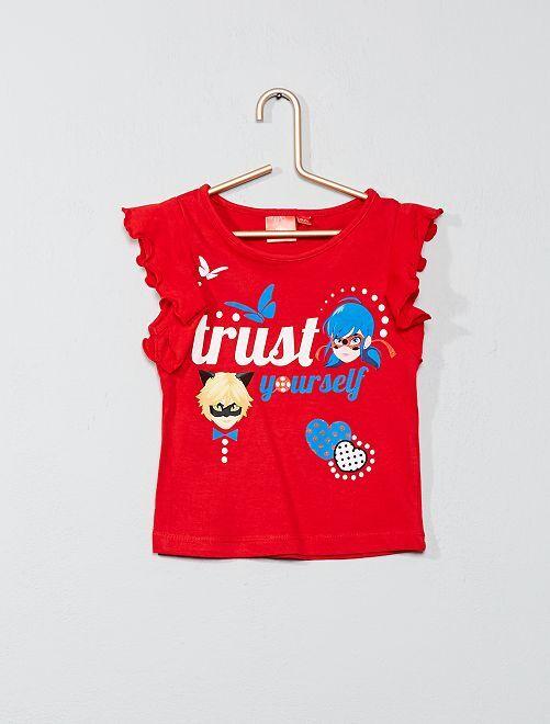 T-shirt 'Miraculous' pailleté                                         rouge Fille