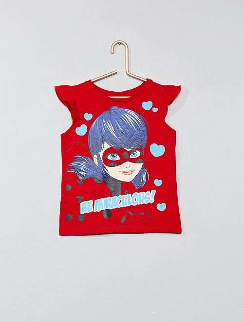 T-shirt 'Miraculous'                                         rouge Fille