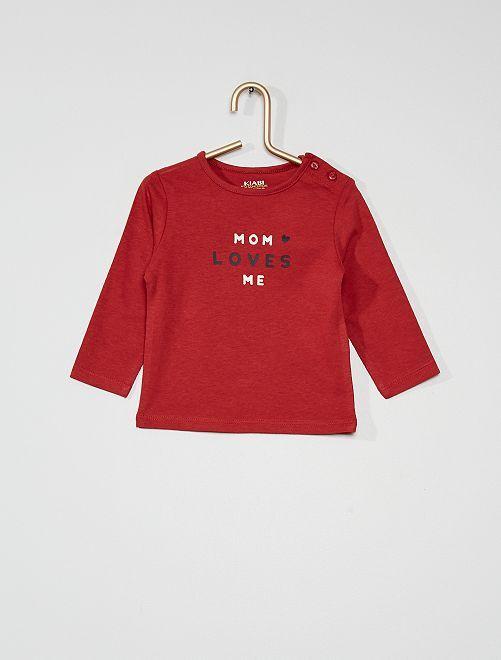 T-shirt 'mom'                                                                                         rouge