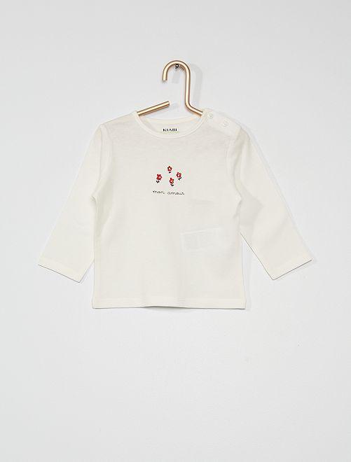 T-shirt 'mon amour'                                                                                         blanc