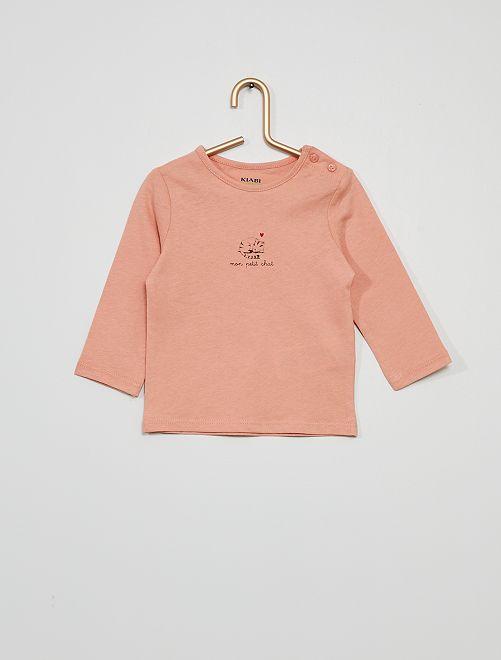 T-shirt 'mon petit chat'                                                                                         rose