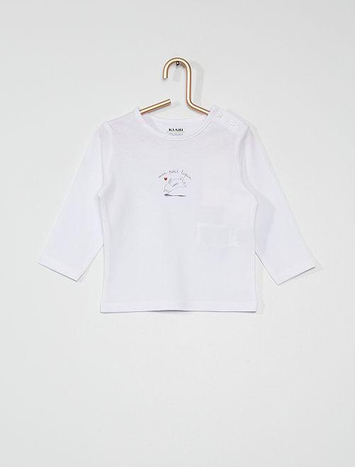 T-shirt 'mon petit lapin'                                                                                         blanc