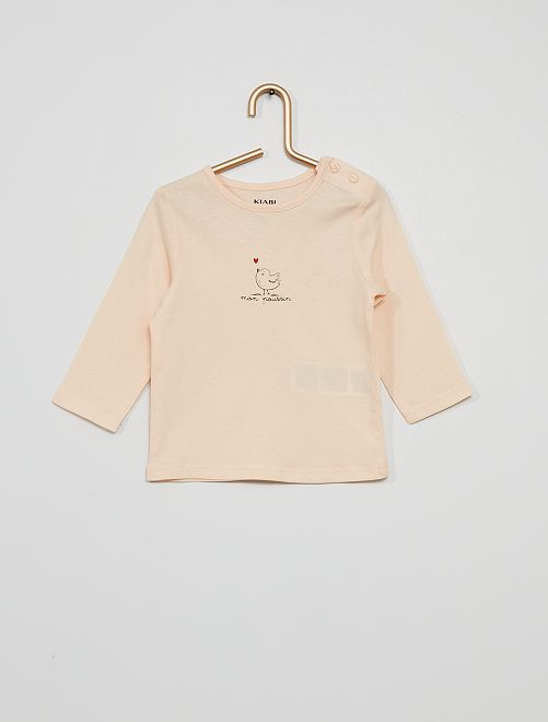 T-shirt 'mon poussin'                                                                                         rose pale