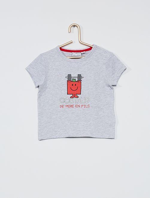 T-shirt 'Monsieur Madame'                             gris chiné