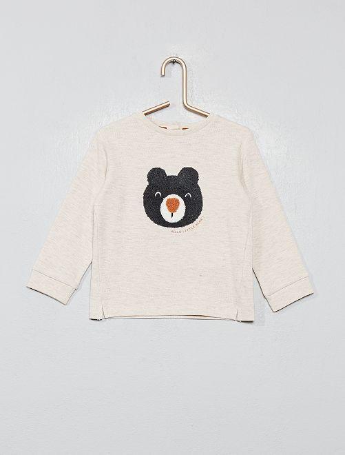 T-shirt 'montagne'                                         beige/ours