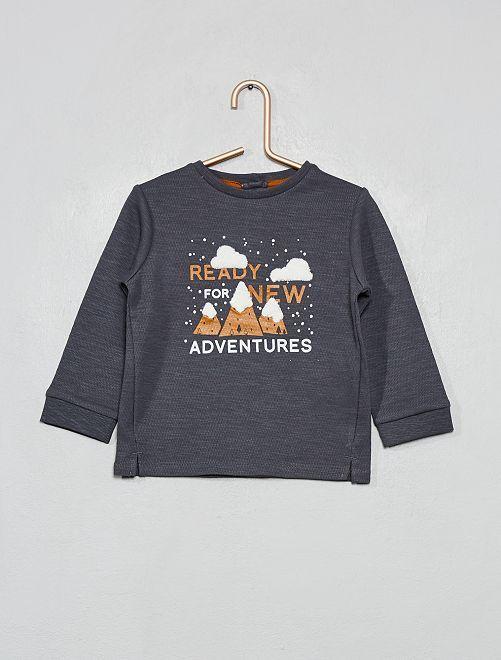 T-shirt 'montagne'                             gris