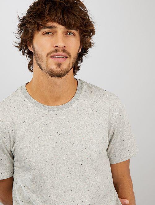 T-shirt moucheté 'éco-conception'                                                     gris