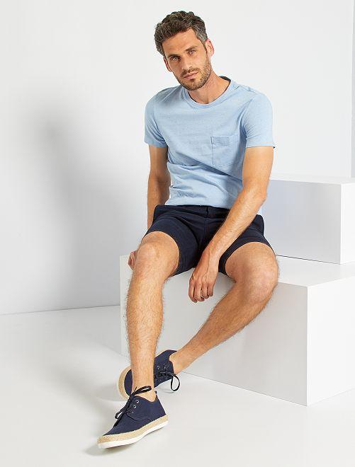 T-shirt moucheté éco-conçu                                                                                                                 bleu