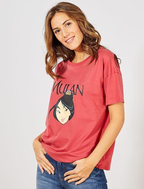 T-shirt 'Mulan'                                                                                                                 rouge Mulan