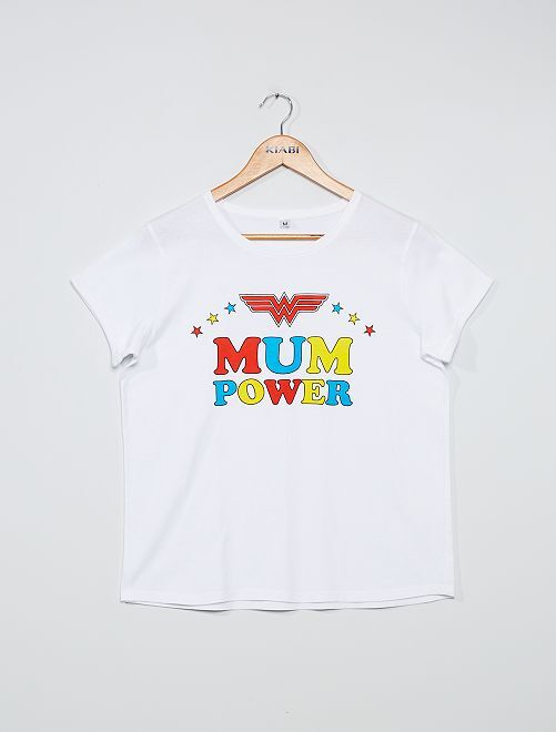 T-shirt 'Mum Power'                             blanc